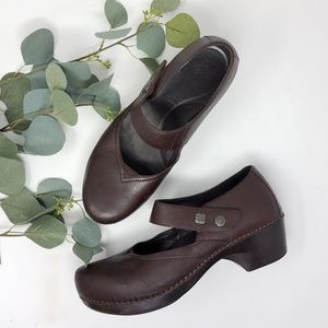 DANSKO Brown Leather Mary Jane Shoes 40